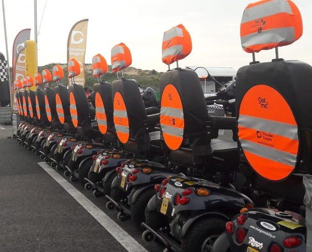 Alle wedstrijd scootmobielen NK Scootmobiel klaar voor de start!